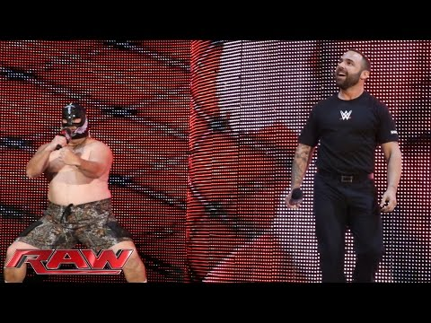 Larry the Cable Guy and Santino Marella address the WWE Universe: Raw, November 24, 2014