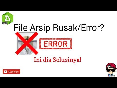 Cara Mengatasi File Arsip Rusak Gamtrik 041 Youtube
