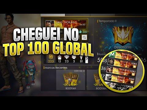 AO VIVO FREE FIRE TOP GLOBAL SOLO 25 5300 PONTOS!