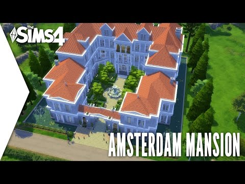 THE SIMS 4 SPEED BUILD #146 - AMSTERDAM MANSION