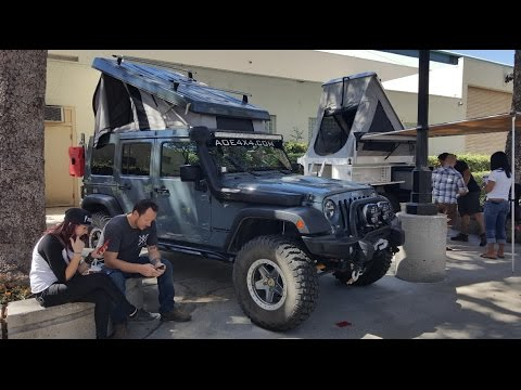 Jeep JK  hard top  rooftop tent Offroad Expo & Jeep JK
