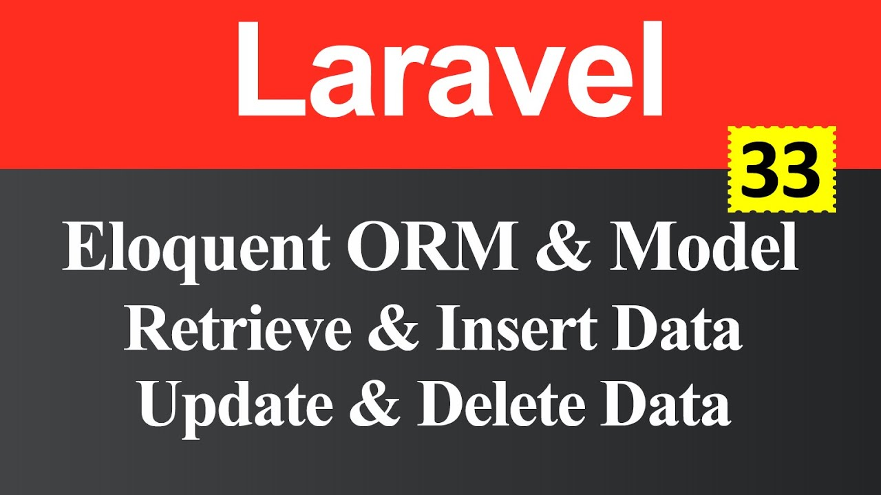 Eloquent ORM and Model in Laravel (Hindi)