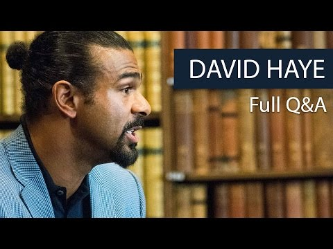 David Haye | Full Q&A | Oxford Union