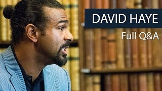 David Haye | Full Q&A | Oxford Union