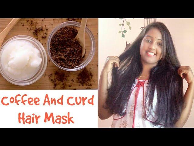 Hair Growth Mask | Coffee And Curd Hair Mask | Diy Hair Mask - YouTube