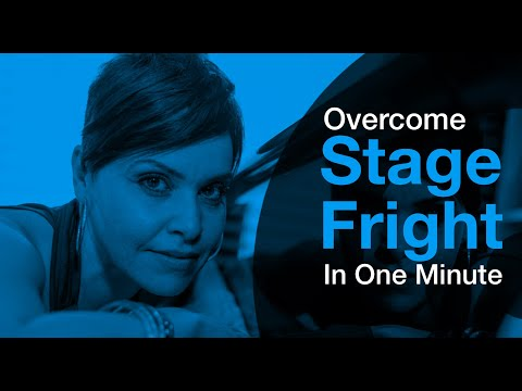 How To Sing  Overcome stage fright in 1 minute