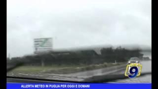Allerta meteo in Puglia per oggi e domani