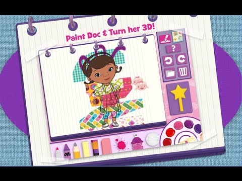 Doc McStuffins Color And Play Disney Junior Animated Coloring Book Paint 3D Games PART 3
