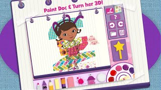Doc McStuffins Color and Play Disney Junior Animated Coloring Book Paint 3D Color Games PART 3