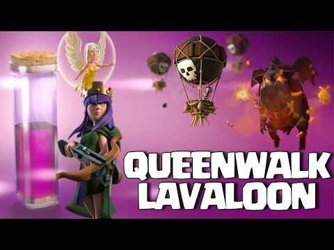 Queen Walk + Lavaloon : TH9 SUPER STRONG WAR ATTACK STRATEGY | Lavaloon Event Clash of Clans