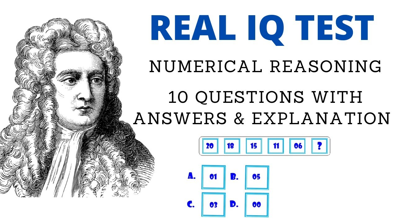 Real IQ TEST - 08 numerical reasoning questions with ...