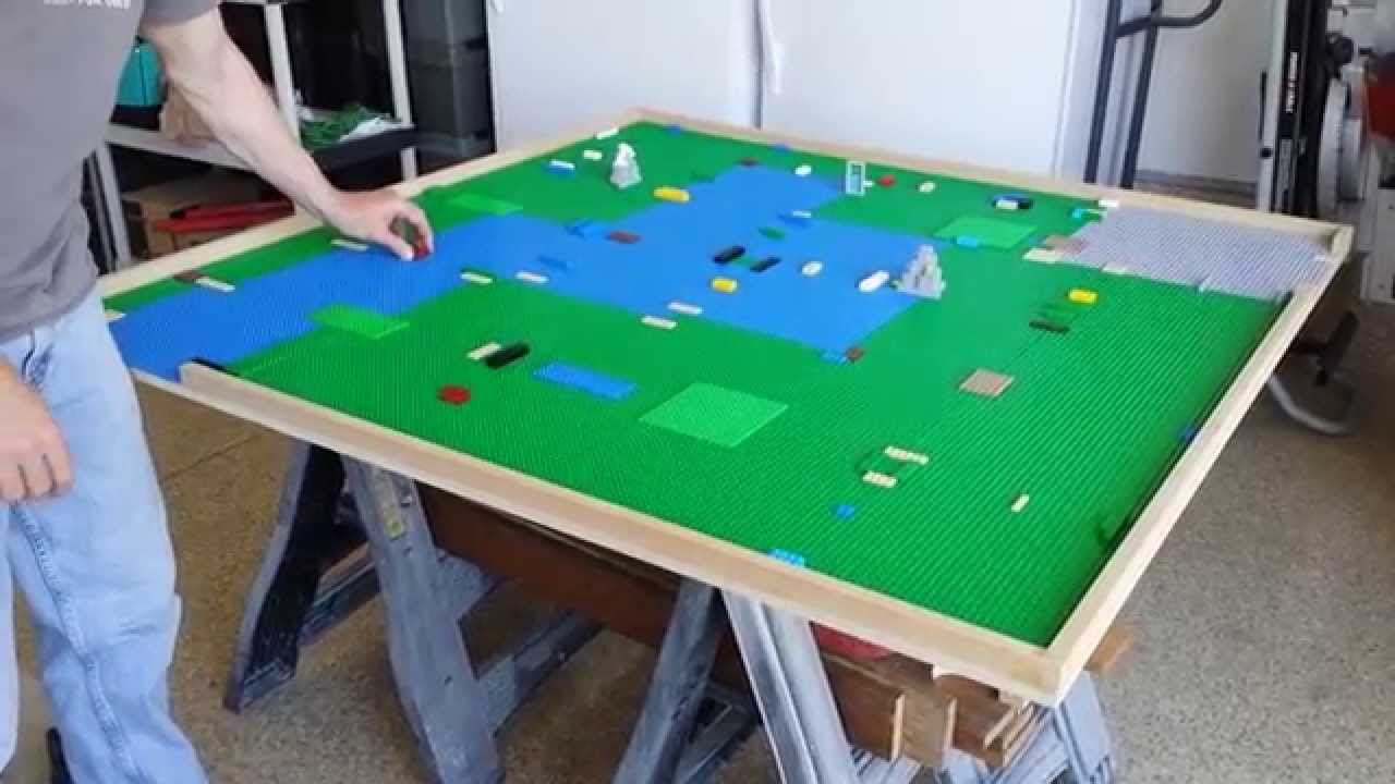 Lego Play Table DIY Ideas - Pool table storage ideas