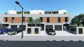 10 viviendas adosadas con urbanización y piscina en APA-9 - Alicante