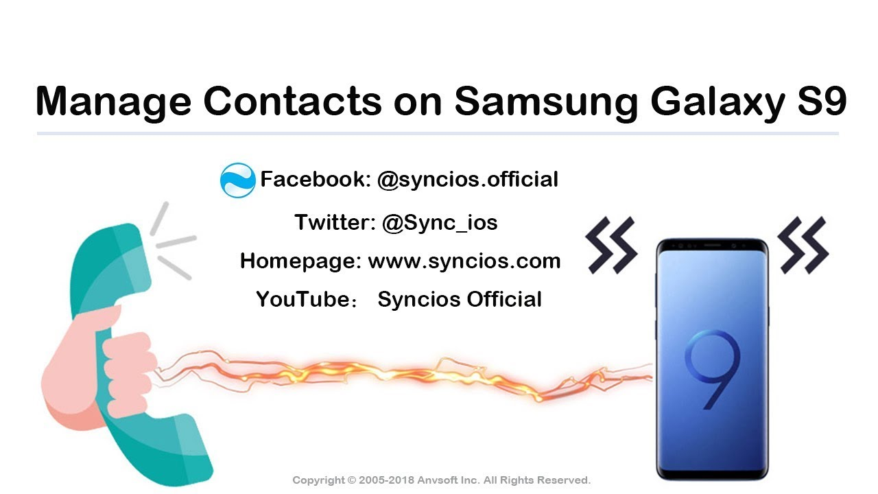 How to Manage Contacts on Samsung Galaxy S9 - Syncios