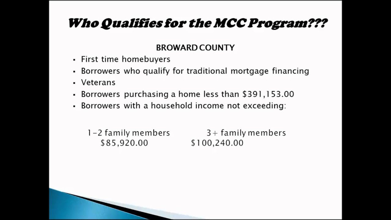 Broward County Mortgage Credit Certificate Program Youtube