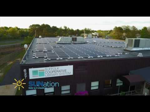 Suffolk Cooperative Library System solar installation by SUNation