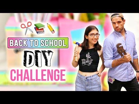 BACK TO SCHOOL 30 Minute DIY Challenge ~ Karen Kavett vs J. Pickens - HGTV Handmade