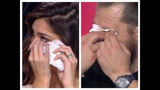 Belen Rodriguez e Martin Castrogiovanni in lacrime a Tu sì que vales