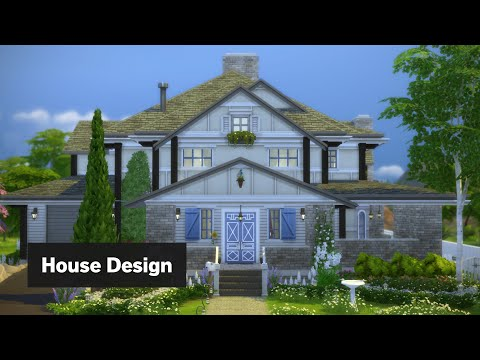 Craftsman House | The Sims 4 House Building