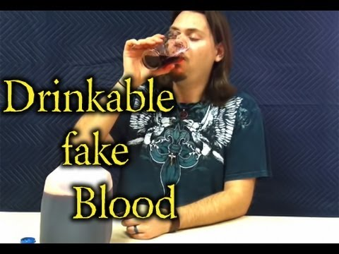 how to make drinkable fake blood