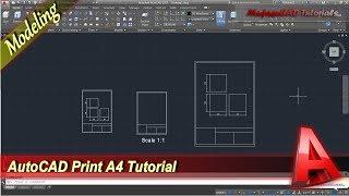 Autocad Print A4 In Model Tab Basic Tutorial For Beginner