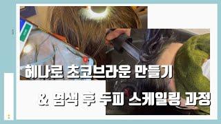 헤나로 초코 브라운 색 만들기/100%천연헤나 흰머리 …