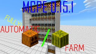 Fully automatic Pumpkin/Melon farm | MCPE 0.15.x