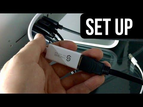 Syncwire Mini DisplayPort | Thunderbolt To HDMI 4k Adapter SetUp Manual Guide - Mac
