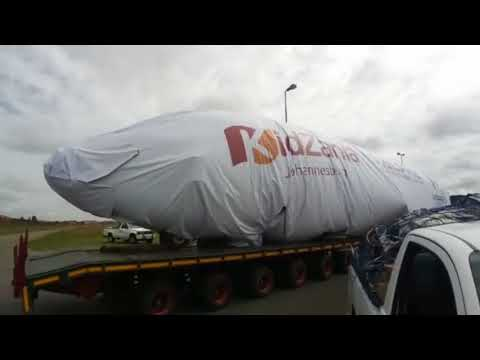 Boeing 737 being transported to Fourways