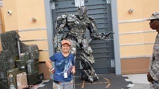 MEGATRON Transformer Is Mean!!! | Universal Studios Hollywood USH 2014 V#122 HSKY HD