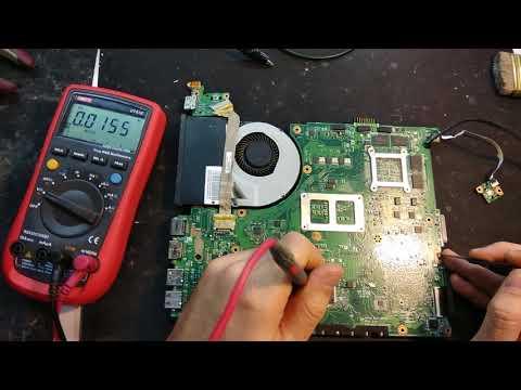 Диагностика и ремонт ноутбука ASUS N56V.  Необходимые условия старта материнской платы.
