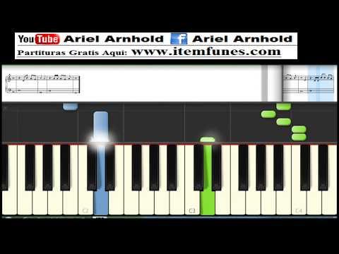 Manda la Lluvia - PIANO TUTORIAL Descargar Partitura Gratis - Synthesia PDF MIDI