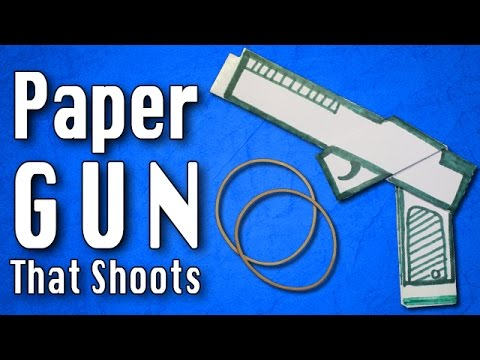 How to make a Paper Gun   Paper Weapons