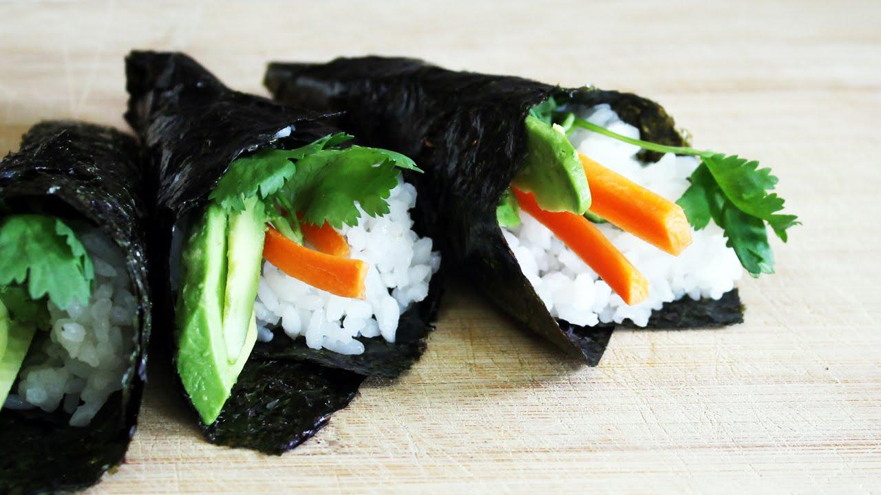 How To Make Sushi Cones //  Vegan Temaki Tutorial   Mary's Test Kitchen