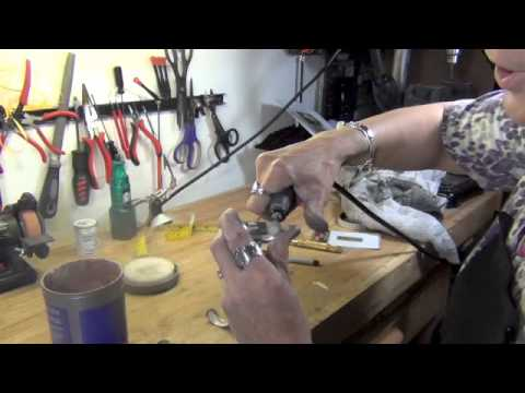 How to make a spoon bracelet.  Sample video clips.