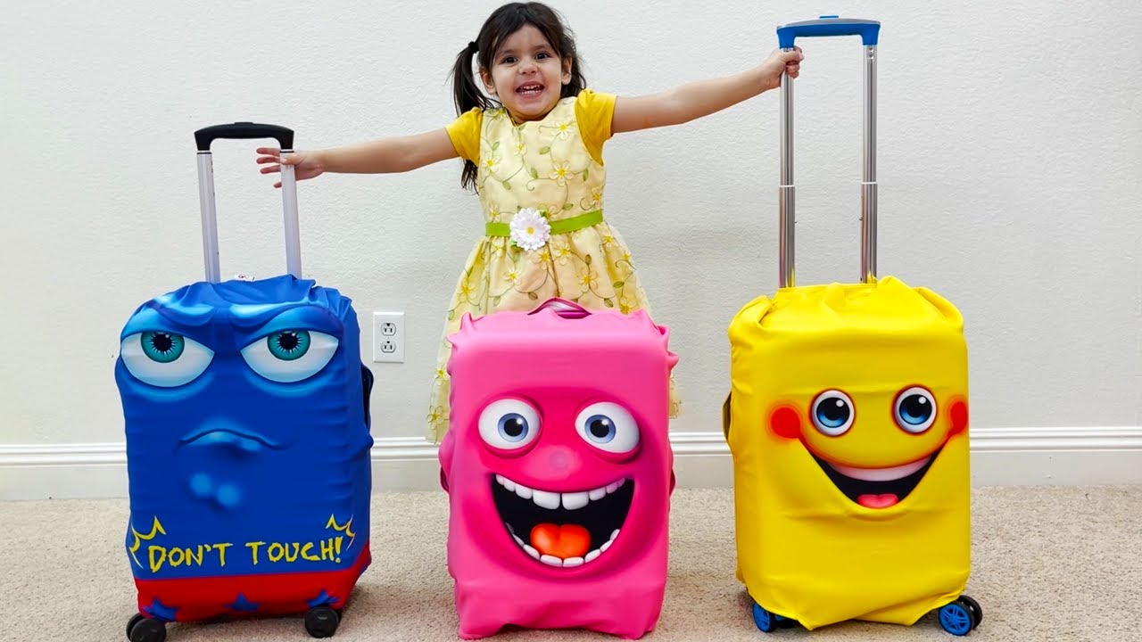 Ellie Pretend Play with Magic Suitcases Luggage Vacation Travel Toys for Kids