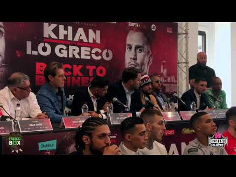 FULL AMIR KHAN VS PHIL LO GRECO FINAL PRESS CONFERENCE