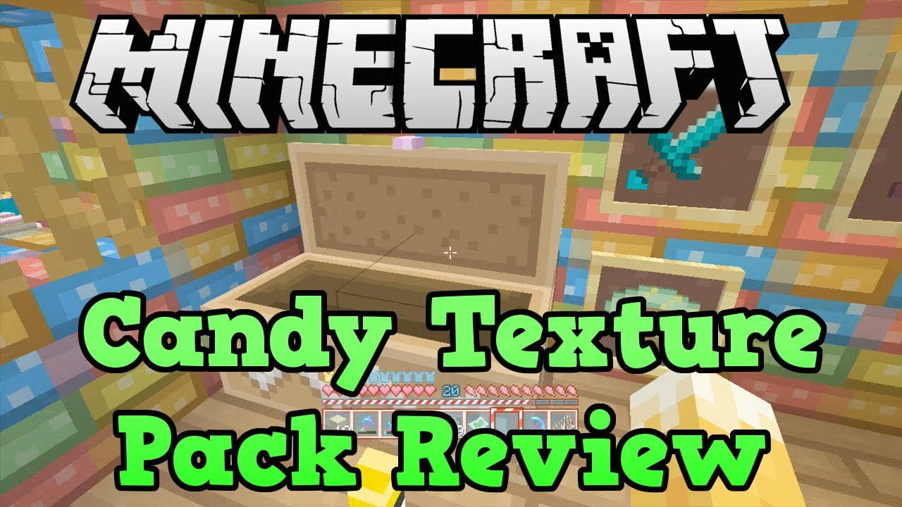 Minecraft Xbox 360 + PS3: Candy Texture Pack Gameplay Review - YouTube