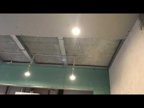 как из гипсокартона сделать потолок фото