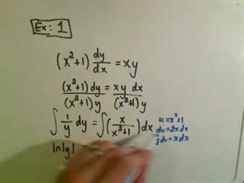 Solving Separable First Order Differential Equations - Ex 1