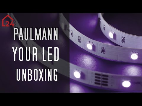 paulmann yourled led streifen unboxing led strip f r warmwei es licht youtube
