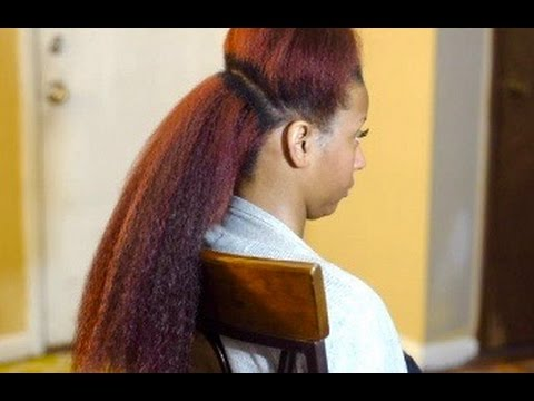 Vixen Crochet Braids Tutorial - Kanekalon Hair - YouTube