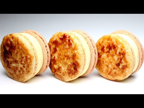 Eng) 크렘브륄레 마카롱 만들기.Creme Brulee Macaron Recipe.가정용오븐.계란1개
