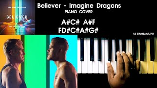 Download lagu Believer - Imagine Dragons Song Indian Version Piano Cover with NOTES | AJ Shangarjan