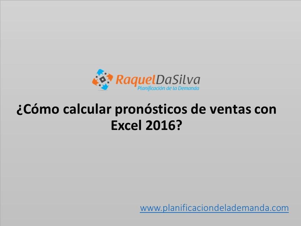 Pronósticos de Ventas en Excel 2016 - YouTube