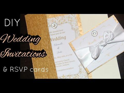 💍DIY: How to make Elegant Gold Wedding Invitations & RSVP Cards | Stationary Cards | Easy to do