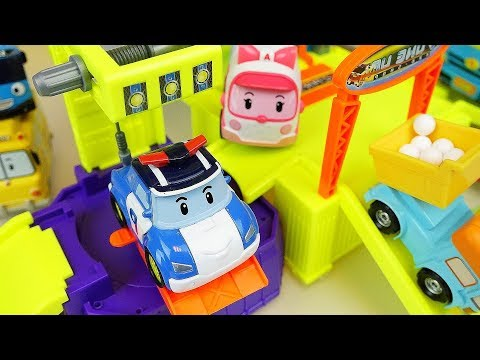 Thumbnail: Robocar Poli slide car center and sand mini heavy car toys