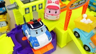 Robocar Poli slide car center and sand mini heavy car toys