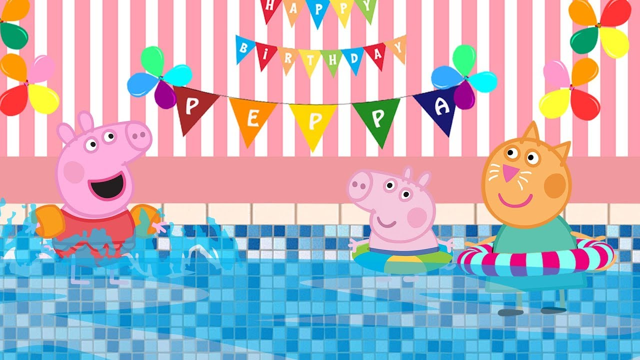 Happy Birthday Song With Peppa Pig Nursery Rhyme For Kids Youtube