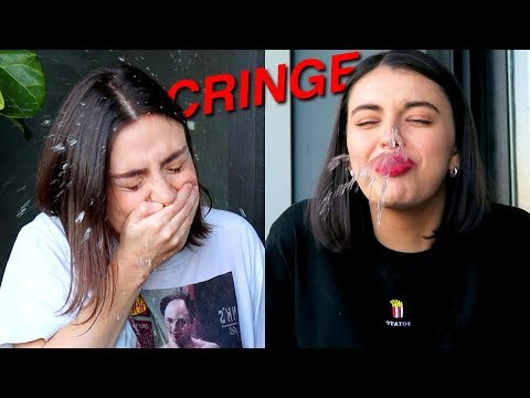ROASTING EACH OTHER'S OLD VIDEOS WITH REBECCA BLACK